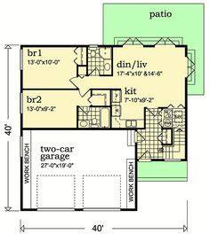 Traditional Style House Plan 24705 with 3 Bed 2 Bath