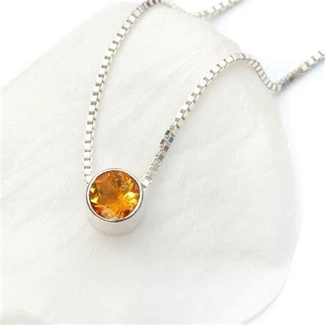 november birthstone jewelry citrine necklace november birthstone by lilia nash
