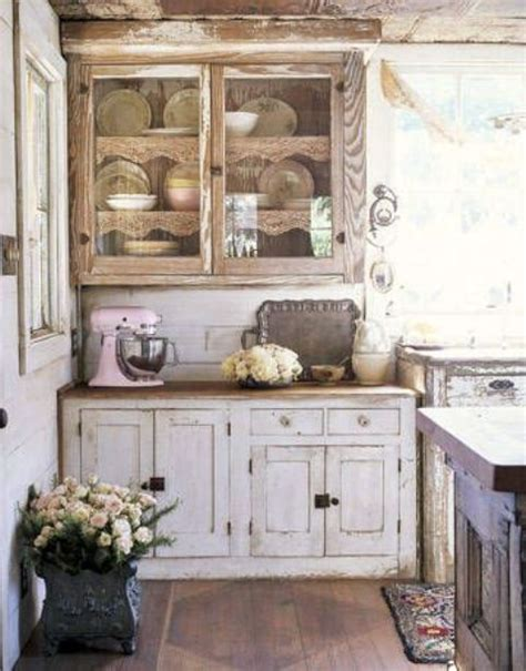 shabby chic kitchen cabinets ideas 85 cool shabby chic decorating ideas shelterness 7905