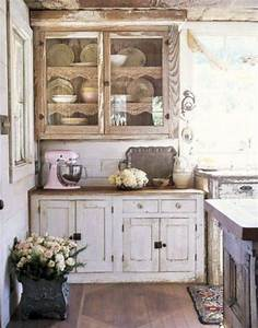 85 cool shabby chic decorating ideas shelterness With kitchen cabinets lowes with shabby chic wall art decor