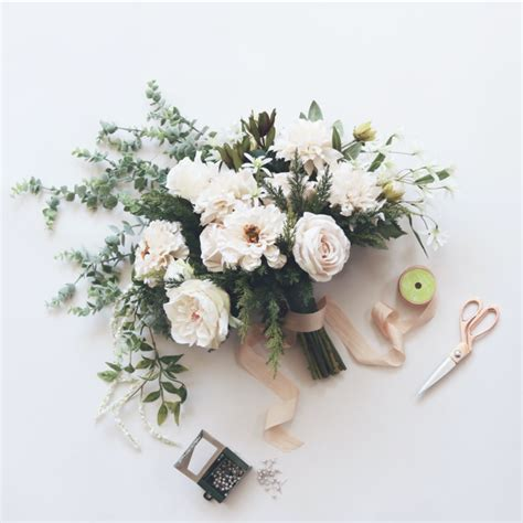 silk wedding flowers wedding bouquets corsages