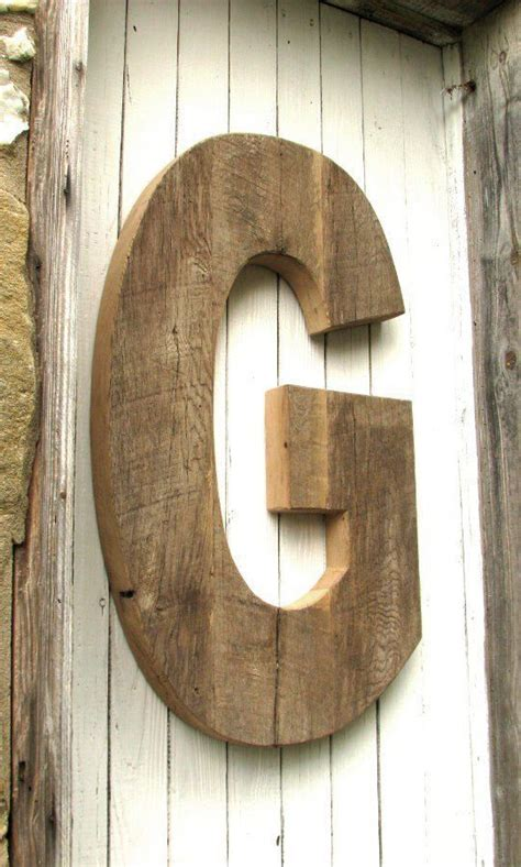 large rustic decorative wooden letter  secondnaturewoodwork  home wooden letters