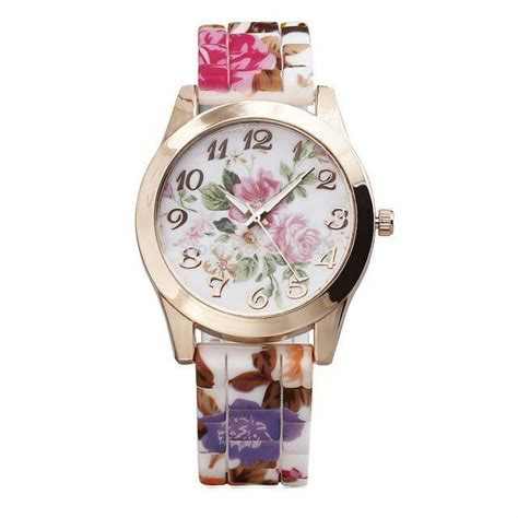 Ladies Pretty Floral Design Watch With Flower Print. St George Pendant. Lily Earrings. Crystal Bead Bracelet. Real Wedding Rings. Pure Gold Wedding Rings. 18k White Gold Anklet. Gold African Necklace. 8 Inch Gold Bangle Bracelet