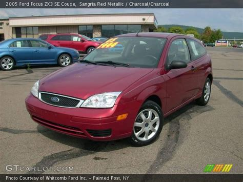 sangria red metallic 2005 ford focus zx3 se coupe