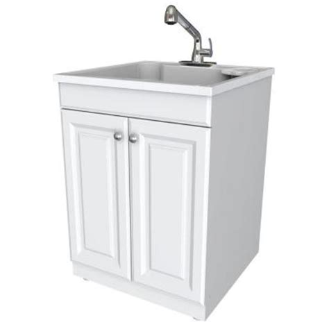 all in one utility sink glacier bay all in one 24 in x 24 5 in x 34 5 in