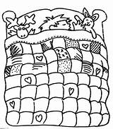 Quilt Coloring Bed Boy Motifs Various sketch template