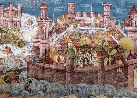 siege de constantinople about the icon the siege of constantinople monomakhos