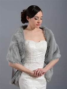 faux fur wrap bridal shrug fw010 faux fur wrap bridal With fur wedding dress