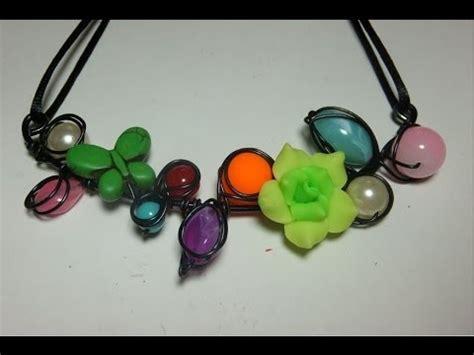 DIY Collar de alambre y abalorios Alambrismo YouTube