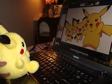 pikachu  fun  laptop pikachu  viewing   flickr