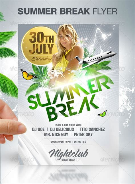 cool spring summer break party flyers entheosweb