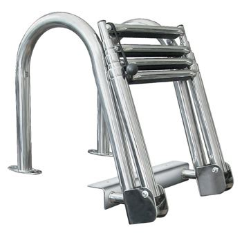Stainless Folding Boat Ladder by New 4 Step Stainless Steel Folding Rear Entry Pontoon Boat