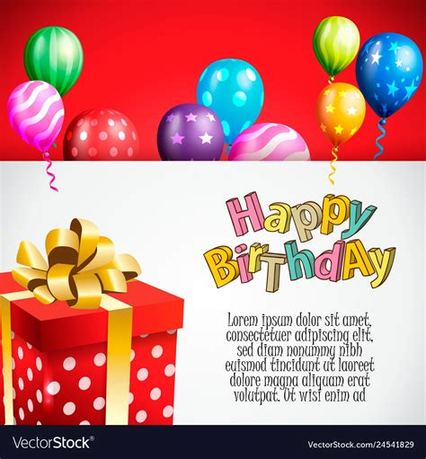 Birthday invitation card birthday background Vector Image