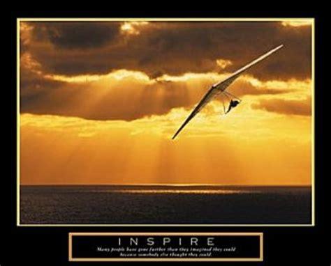22x28 frame inspire hang gliding poster 28x22