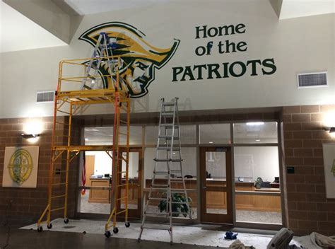 independence high school logo mural photos in