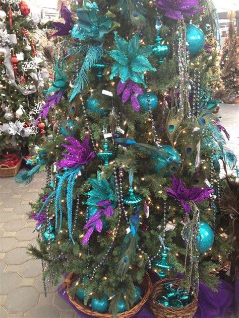 christmas tree decorated in purple aqua purple christmas tree christmas trees pinterest christmas trees turquoise and purple