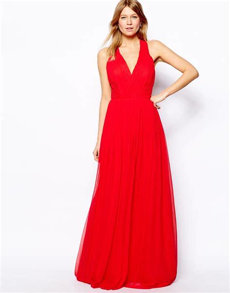 mango cross  maxi dress  red lyst