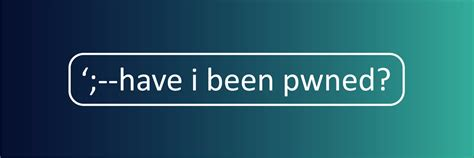 Have I Been Pwned (@haveibeenpwned)