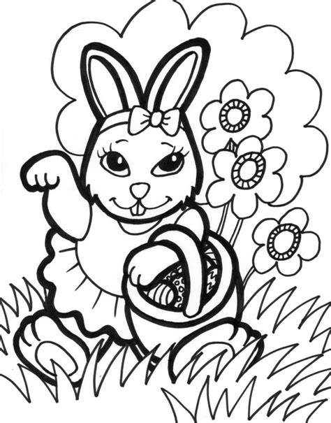 Coloring Easter Pages by Free Printable Easter Bunny Coloring Pages For