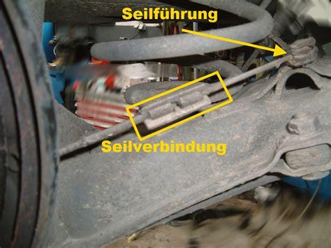 reparaturanleitungen der handbremse feststellbremse
