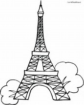 HD Wallpapers Eiffel Tower Coloring Page