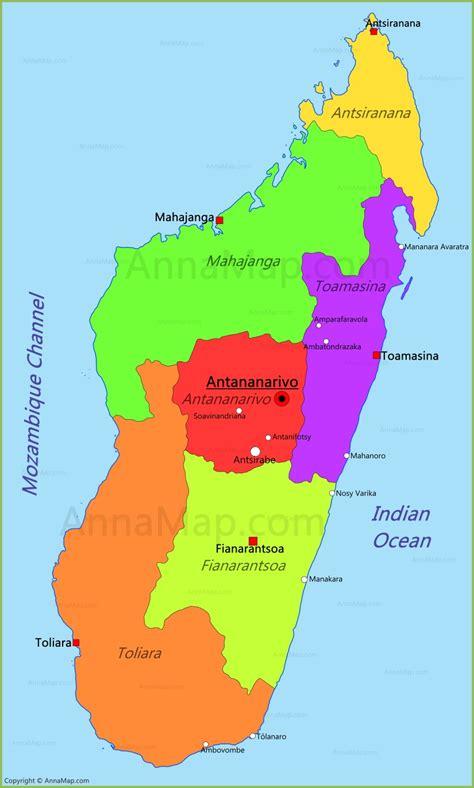 madagascar map map  madagascar annamapcom