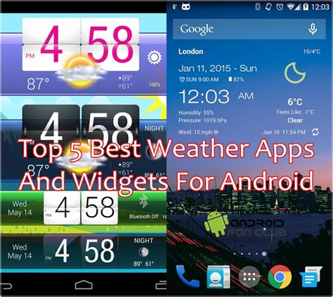 best free weather app for android top 5 best weather apps widgets for android