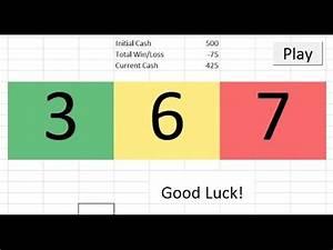 Raffle Drawing Generator Slot Machine In Excel Youtube