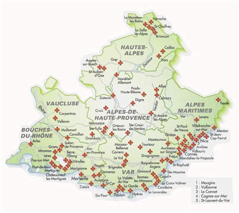 Carte Du Var Avec Toutes Les Villes by Info Paca Carte