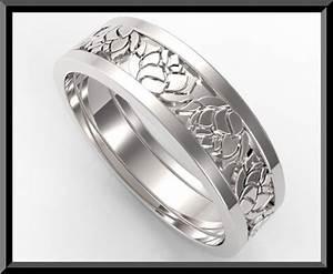 Custom Design Mens Wedding Band Vidar Jewelry Unique