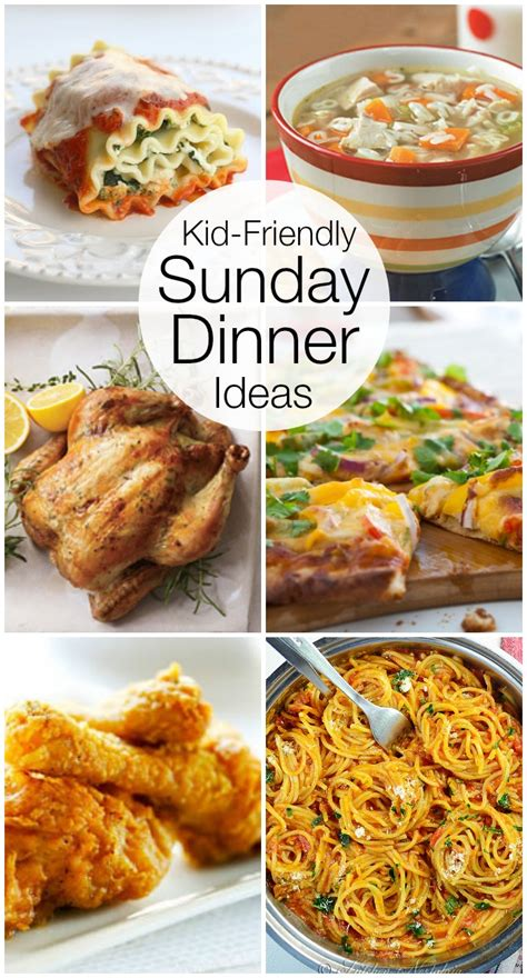 ideas for a dinner kid friendly sunday night dinner ideas catch my party