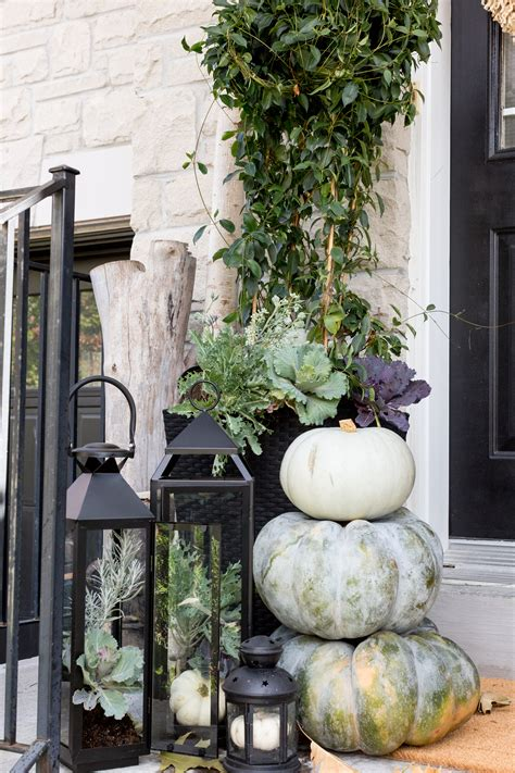 neutral fall porch decor ideas   incredibly welcoming