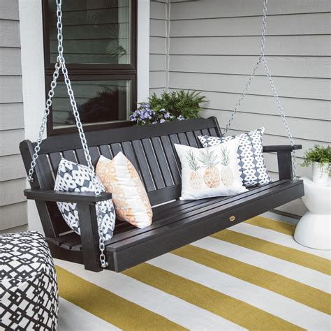 porch swings for highwood 174 lehigh recycled plastic porch swing porch