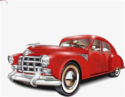 Vector Classic Cars, Classic Cars, Vector, Trolley Png And