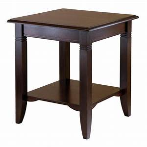 Amazon com: Winsome Wood Nolan End Table: Kitchen & Dining