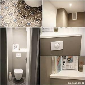 Carrelage Avant Ou Apres Receveur : r novation nos wc avant apr s powder room bathroom toilets bath remodel et small toilet ~ Nature-et-papiers.com Idées de Décoration