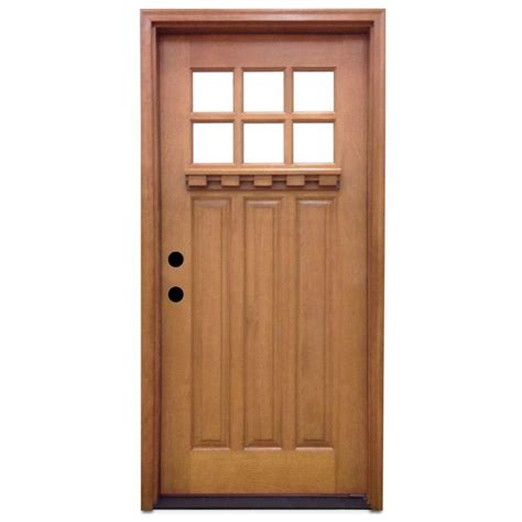 what does prehung door steves sons 36 in x 80 in craftsman 6 lite stained