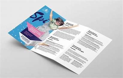 Fold Brochure Tri Template Easter Service Photoshop