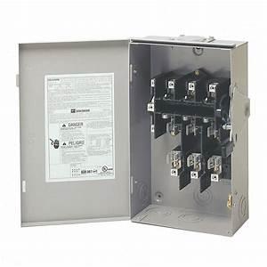 Eaton 60 Amp 120  240-volt 14 400-watt Fused General-duty Safety Switch-dg322nrb