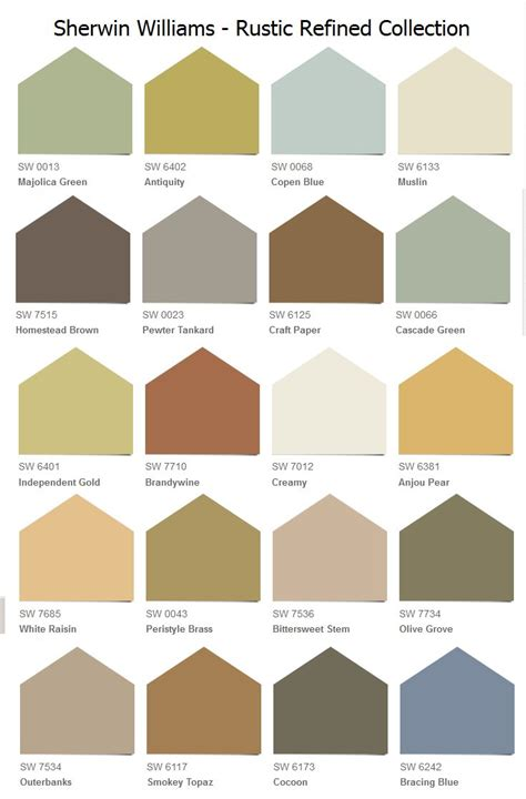 sherwin williams quot rustic refined quot collection