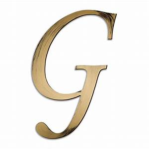 Individual script letters wall decor letter g