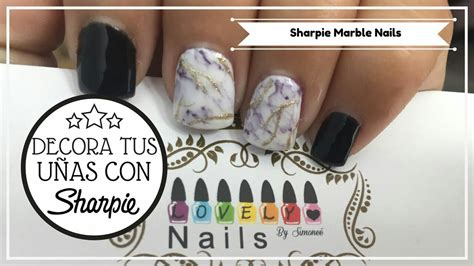 decora tus unas  sharpiediy sharpie nails nail art