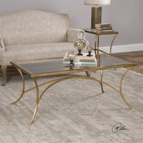 Alayna Gold Coffee Table From Uttermost  Coleman Furniture