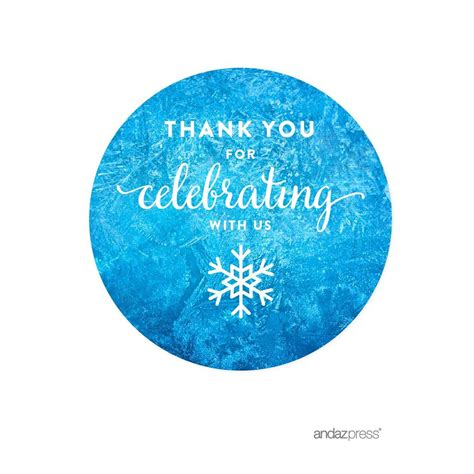 Amazoncom Andaz Press Birthday Water Bottle Labels Stickers, Frozen Snowflake, 20pack, For
