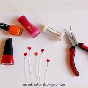 Basteln Mit Nagellack : diy zum valentinstag 0 2mm draht zum herz formen und mit nagellack f llen nagellack ~ Somuchworld.com Haus und Dekorationen