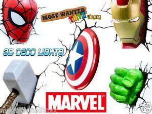 marvel 3d wall lights iron thor captain