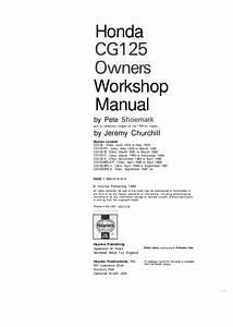 Honda Cg125 76 91 Service Manual