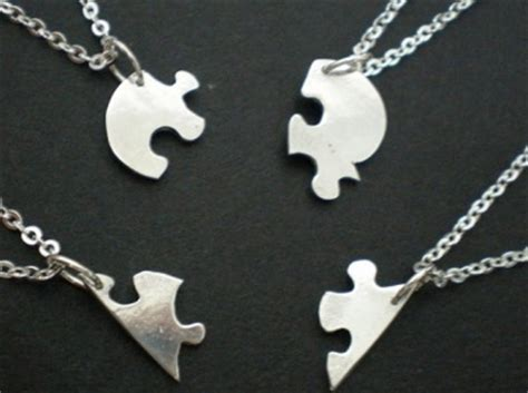 heart shaped jigsaw puzzle necklaces personalized