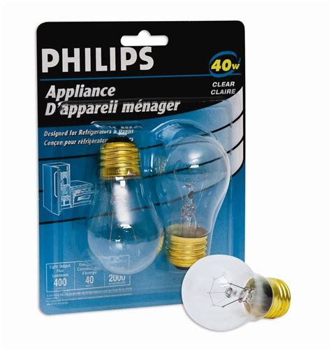 philips 40w appliance bulb clear 2pk the home depot canada