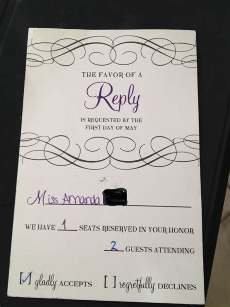 what does rsvp apparently 1 1 5 weddingbee
